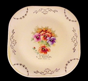 Souvenir Plate West Point Ill Il Illinios C.w. Rampley