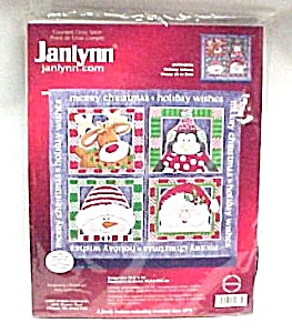 Janlynn Counted Cross Stitch Kit Christmas Wall Hanging (Image1)