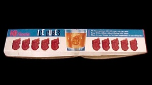 Plastic Red Santa Ice Cube Molds 1966 Dan-Dee  New in Box (Image1)