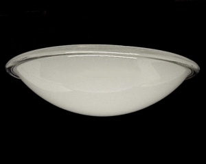 Recessed Light Shade Convex Wall Ceiling Exhaust Fan Glass 11 in White (Image1)