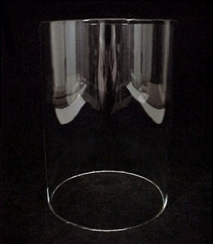 Cylinder 4 5/16 X 6 in Tube Light Lamp Shade Glass 2.6 mm wall  (Image1)