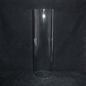 Cylinder 4 5/16 X 11 Tube Light Lamp Shade Glass Candle Wall Sconce  (Image1)