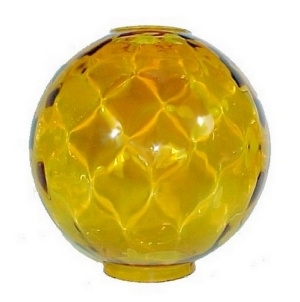 Gone With The Wind Amber Glass Ball Oil Lamp Shade 10 In Kerosene