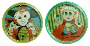 Puzzle Ball Game Toy Party Favor Prize Cowboy Indian 1960s Vintage  (Image1)