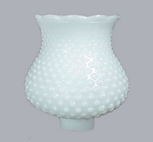 Opaque Milk Glass Hobnail Light Shade 1 5/8 in Small Danish Modern (Image1)
