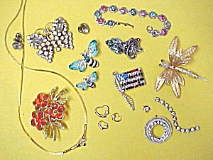 Junk Jewelry Pins Rhinestone Stones Marcasite Repair (Image1)