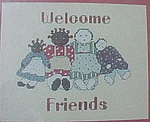 Welcome Friends Country Counted Cross Stitch Kit  (Image1)