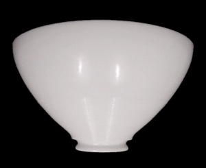 Milk White Glass 10 in Floor Lamp Shade Vintage Reflector Art Deco  (Image1)