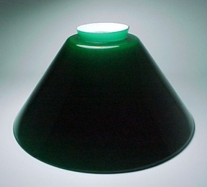 Vianne Green Glass Light Shade 3 1/4 X 6 X 12 Cone Pool Table Pendant (Image1)