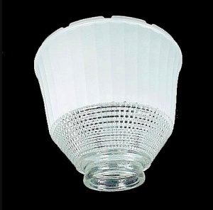 National Home 2 1/4 X 6 in Reflector Lamp Light Shade Clear White (Image1)