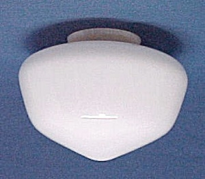 Milk Glass Schoolhouse Ceiling Fan Light Globe Shade (Image1)