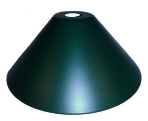 Neckless Green Pendant Light Shade Industrial Style 14 inch Metal Cone (Image1)