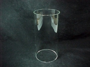 Cylinder 2 1/2 X 6 in Tube Light Lamp Shade Candle Holder Glass Sconce (Image1)