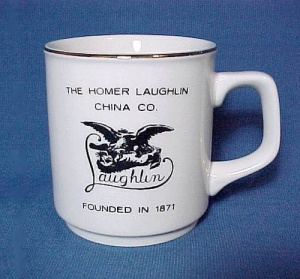 Homer Laughlin China Souvenir Coffee Mug Advertising