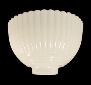 Petalware Cremax 5 inch Lamp Shade Depression Glass (Image1)