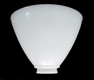 Floor Table Lamp Reflector Shade 8 in IES Milk White Glass AS IS (Image1)