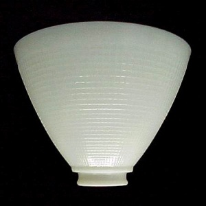 Floor Table 8 in Lamp Reflector Shade IES Milk White Glass AS IS (Image1)