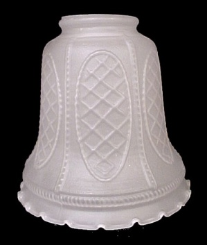 Clear Satin Glass 2 1/4 in Bell Light Shade Chandelier Wall Sconce  (Image1)