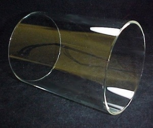 Cylinder 6 3/4 X 10 1/2 Tube Light Lamp Shade Glass Candle Wall Sconce (Image1)
