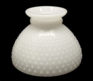 Hobnail Milk Glass Kerosene Oil Student Lamp 8 In Shade