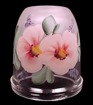 Glimmer Light Fairy Lamp Votive Candle Lite Lid Only Dogwood Blossom