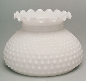 White Milk Glass Hobnail 7 in Student Lamp Shade New (Image1)