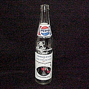 1977 Pepsi Cola Soda Bottle University Of Iowa Versus Ia State Univ
