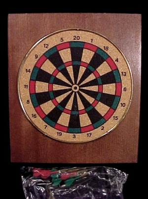 Miniature Adult Toy Dart Board Darts Den Bar Game Room (Image1)