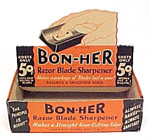 Bon-Her Razor Blade Sharpener EMPTY Store Display Box (Image1)