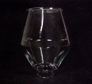 1 7/8 X 7 Danish Modern Hurricane Light Shade Lamp Clear Glass  (Image1)