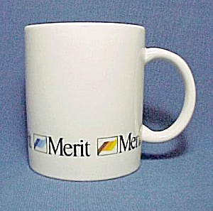 Vintage Merit Cigarette Coffee Mug Cup Porcelain China (Image1)