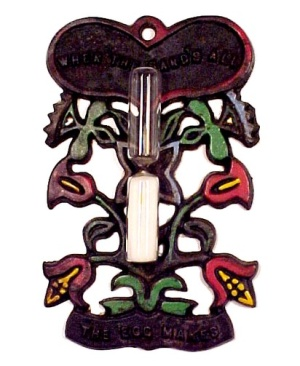Wilton Cast Iron Egg Timer Pennsylvania Dutch Vintage (Image1)