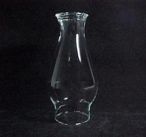 Beaded 3 X 8.5 Clear Glass Kerosene Oil Lamp Chimney  (Image1)