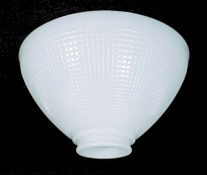 White Glass Table Floor Lamp IES Reflector 3 X 10 Shade (Image1)