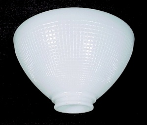 White Glass IES Reflector Table Floor Lamp 2 7/8 X 10 Shade (Image1)