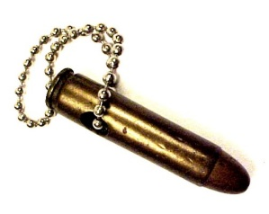 9mm Bullet Keychain Bead Key Chain Fob (Image1)