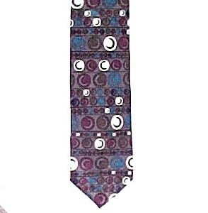 Luciano Gatti 100% Silk Necktie Tie DOTS & CRESCENTS (Image1)