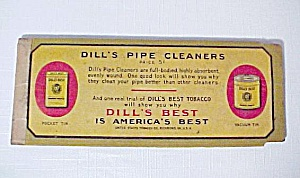 Dill's Pipe Cleaners Vintage Tobacciana Advertising Old (Image1)