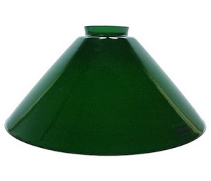 Green Italian Glass 2 25 X 10 Cone Light Lamp Shade New