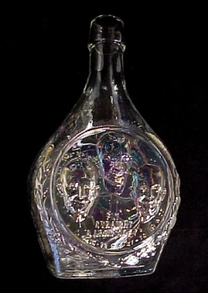 Wheaton Clear Carnival Glass Bottle Apollo 16 Vintage (Image1)