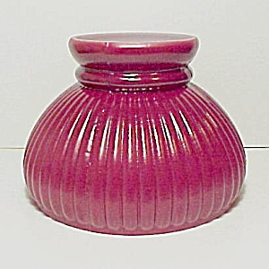 Red Glass 6 in Ribbed Student Kerosene Oil Lamp Shade (Image1)