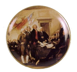 Us Declaration Of Independence Collectors Plate Germany