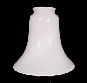 White Glass Light Shade Bell 2 1/4  Chandelier Ceiling Fan Wall Sconce (Image1)