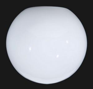 Mid Century Modern Light Shade Neckless 5 1/4 X 14 in Ball Milk Glass  (Image1)
