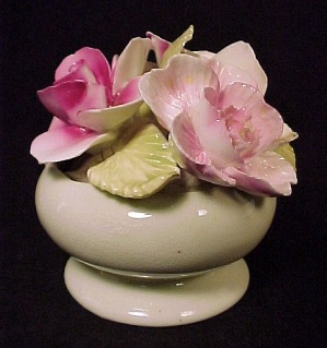 Staffordshire Bone China Flower Bouquet Bowl Vintage