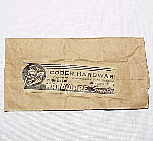 Coder Hardware Paper Sack Muscatine Iowa IA Advertiser (Image1)