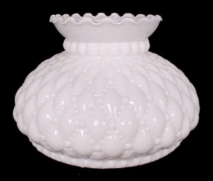 Diamond Quilted Quilt White Milk Glass 6 Inch Student Lamp Shade