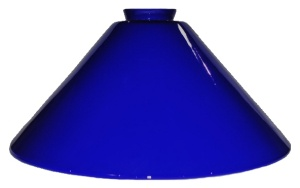 Italian Blue Glass Cone Pendant Light Lamp Shade 2.25 X 5.5X 12  (Image1)