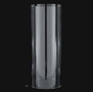 Cylinder 3 X 8 Tube Candle Holder Lamp Light Shade Glass Hurricane (Image1)