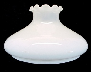 Tam-O-Shanter Milk Glass 10 in Kerosene Oil Lamp Shade Student White (Image1)